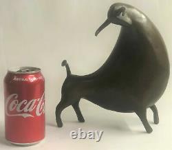 10 West Art Deco Bronze Sculpture Abstract Animal Bull Beef Statue Figure