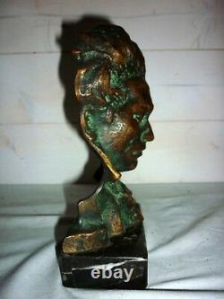 1920/1930 Beethoven Bronze Bust Pierre Le Faguays Sculpture Art Deco