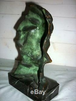 1920/1930 Beethoven Bust Signed Pierre Le Faguays Bronze Sculpture Art Deco