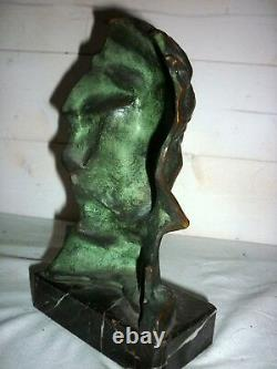 1920/1930 Bronze Bust Of Beethoven Pierre Le Faguays Sculpture Art Deco