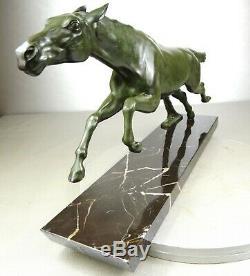1920/1930 Max The Rare Glassman Statue Animal Sculpture Art Deco Bronze Horse