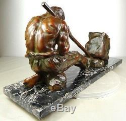 1920/1930 Santi Grnde Statue Sculpture Art Deco Bronze Male Athlete Careerist