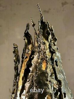 1970 Lampe Sculpture Flamme Art-deco Modernist Brutalist Shabby-chic Arlus