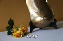 20th Sein François Melin Bronze Sculpture Golden 7.2 KG Unique Print Statue Art