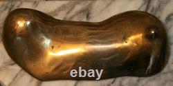 20th Tit François Melin Sculpture Bronze Golden 7.2 KG Single Test Statue Art