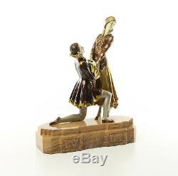 9973613-dss Bronze Sculpture Art Deco Liebespar Eternal Love Colored 40x12x32cm