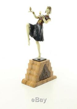 9973615-dss Bronze Sculpture Art Deco Tänzeri Color 37x9x17cm