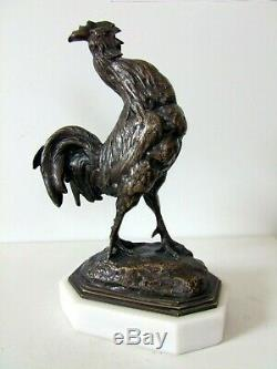 A. Barye Authentic 19th Century Art Deco Bronze Animal Sculpture