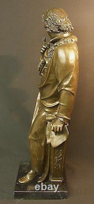 Aa 1930 Large Bronze Beethoven Sculpture Statue 21kg73cm Art Deco Music Tbe
