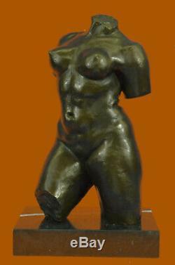 Abstract Modern Art Female Bronze Bust Maillol Sculpture Marble Figurine Balance