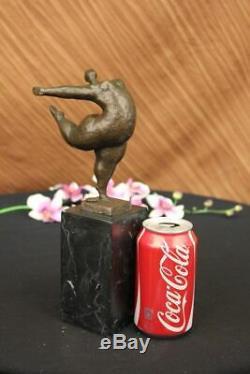 Abstract Modern Art Female Bronze Sculpture Figurine Statue Signed Milo Case