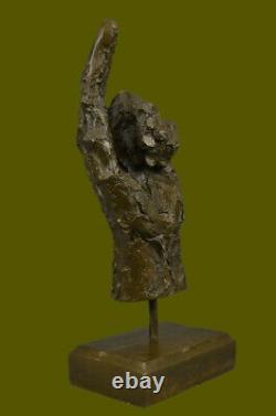 Abstract Modern Numbered Art Bronze Main Gesture Sculpture Bureau Decor House