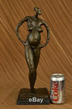 Abstract Modern Woman Woman Bronze Artist Dali Sculpture Figurine