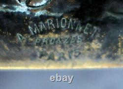 Albert Marionnet Sculpture Bronze Empty Pocket Ashtray Aux Colombes Art Nouveau