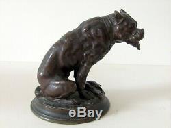 Alfred Barye (1839-1882) Bronze Sculpture Authentic 19th Century Art Deco