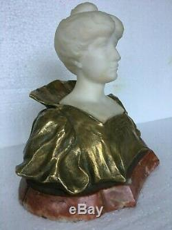 Ancient Sculpture Bronze Golden And Marble End Xixth Time 1900 Art Nouveau