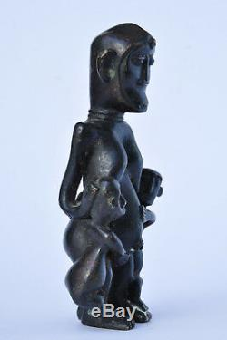 Ancient Statue Africa Maternity Bronze Old African Art Dogon Sculpture
