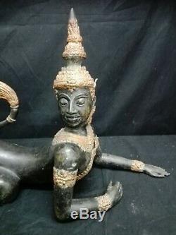 Ancient Thai Sculpture Bronze Oriental Art China Thailand