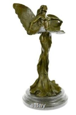 Angel Statue Sculpture Fairy Art Deco Art Nouveau Style Bronze Pendant Balance