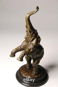 Animal Art, Beautiful Elephant Bronze Signed Milo