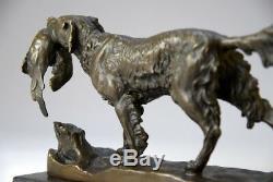 Animal Art, Beautiful Sculpture Of Jules Moignez Bronze Free Shipping