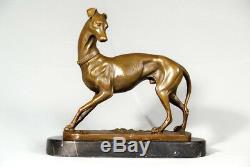 Animal Art- Bronze- Beautiful Italian Greyhound Signed Barye- Free Shipping