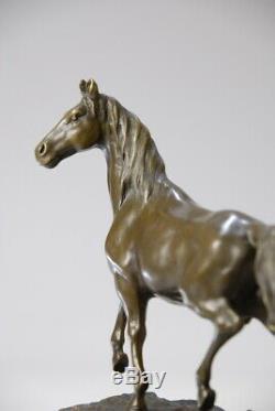 Animal Art, Splendid Bronze Horse Signed Milo
