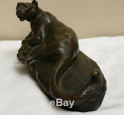 Animal Sculpture, Bronze, C. Masson Gallery Lounge, Panther
