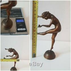 Antique Sculpture Statue Juggler Of Counter-socket Bronze Art-deco
