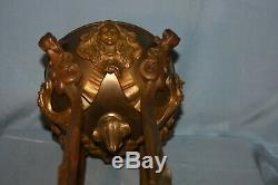 Art Bronze Sculpture Ornament 1900 New Lamp End Up Cutting XIX