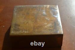 Art Bronze, Signed Monique Gerber, Mg France, 1970s, Ashtray