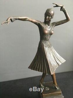 Art Deco Bronze Sculpture Demetre Chiparus Russian Dancer