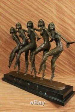 Art Deco Bronze Sculpture New Chiparus Large Marble Decor Home Base