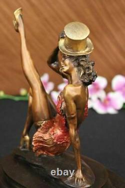 Art Deco Bronze Statue Vintage Actress Dancer Jazz Club Sculpture Design Deco
