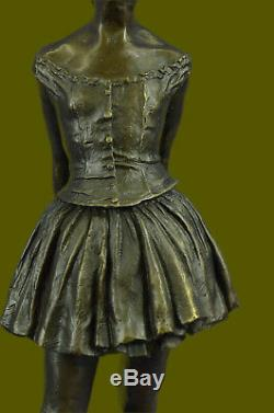 Art Deco New Ballerina Dancer Classical Bronze Sculpture Figurine By Degas