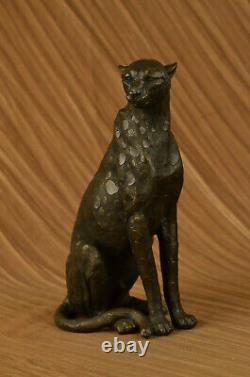 Art Deco Puma Jaguar Wildlife Cheetah Bronze Sculpture Statue Figure Hot Fonte