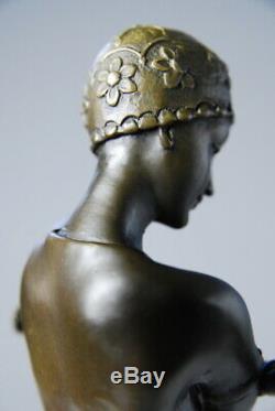 Art Newborn Superb Statuette Signed Preiss Bronze-