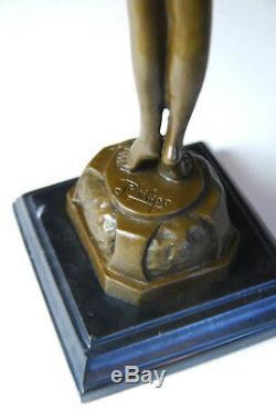 Art Nouveau Beautiful Awakening Bronze Sculpture Signed Phillips-free Shipping