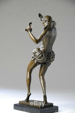 Art Nouveau, Beautiful Sculpture Signed Nick- Bronze, Beautiful Details, Free Shipping