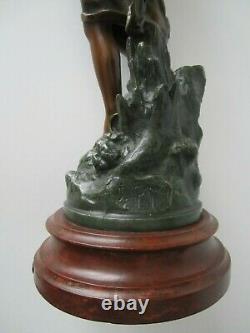 Art Nouveau Statuette/reward Henryk Kossowski/jean Garnier/not Bronze