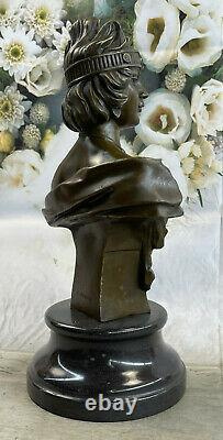 Art Style New Deco Female Bust By Villanis Bronze Sculpture Collector