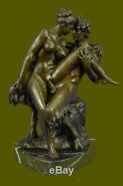Austrian Bronze Erotic Demon Satyr Devil Sculpture Vintage Figurine Art