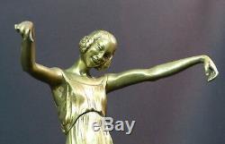B 1925 P. Laurel Unusual Bronze Sculpture Statue Again 4.3kg43cm Dancer Art
