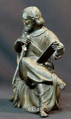 B 19th Unusual Sculpture Statuette Sword Saint Paul 1.5kg20cm Sacred Art God