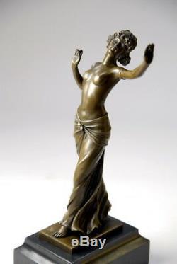 Beautiful Art Deco Bronze Sculpture Signed Preiss Free Shipping