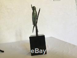 # Beautiful Bronze Sculpture Wildlife Art Deco Swallow Bird By Irenee Rochard