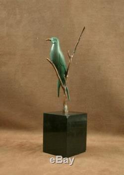 Beautiful Bronze Sculpture Wildlife Art Deco Swallow Bird By Irenee Rochard