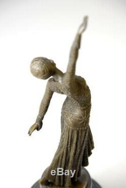 Beautiful Sculpture-art Nouveau D. Chiparus- Bronze- Beautiful Details