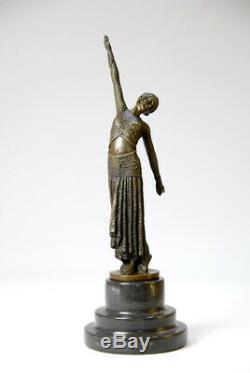 Beautiful Sculpture-art Nouveau D. Chiparus- Bronze- Fine Detail- Sending Complimentary