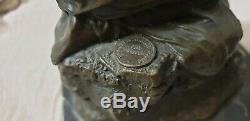 Beautiful Statue / Sculpture Bronze Woman Art Deco Seal Of The Founder